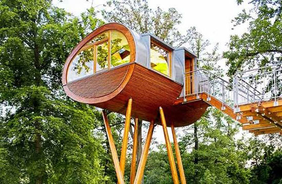 t4 Cool Treehouse designidéer att bygga (44 bilder)