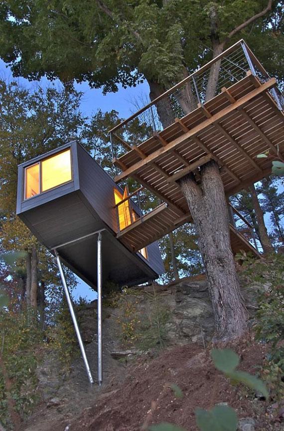 t11 Cool Treehouse designidéer att bygga (44 bilder)