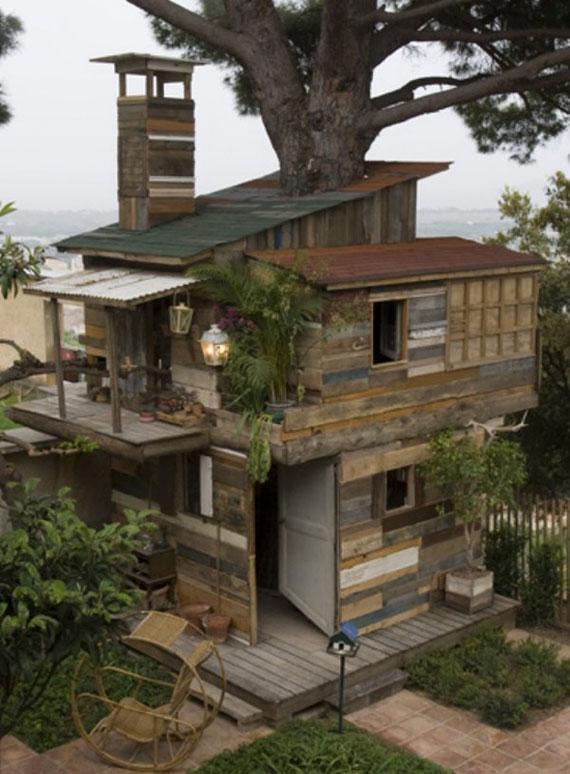 t39 Coola Treehouse-designidéer att bygga (44 bilder)