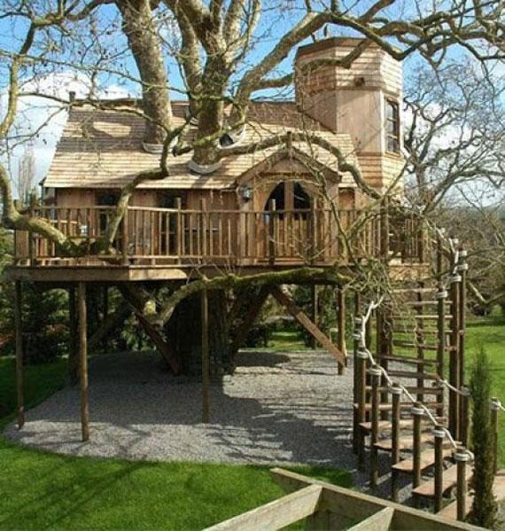 t40 Cool Treehouse designidéer att bygga (44 bilder)