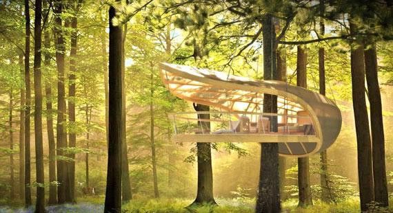 t31 Cool Treehouse designidéer att bygga (44 bilder)