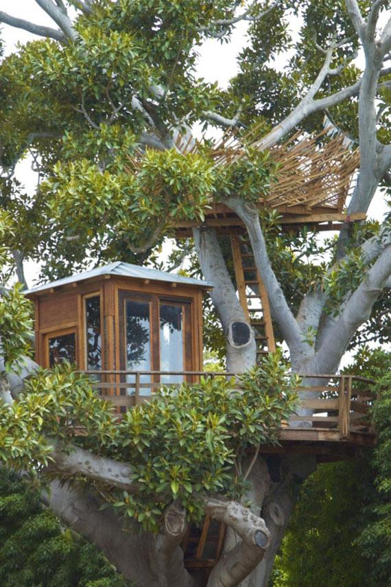 t25 Cool Treehouse designidéer att bygga (44 bilder)