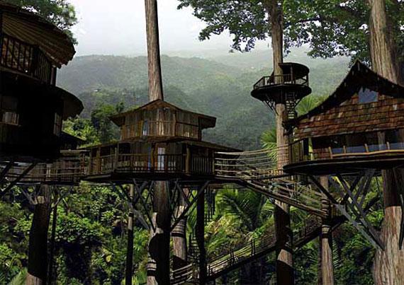 t7 Cool Treehouse designidéer att bygga (44 bilder)
