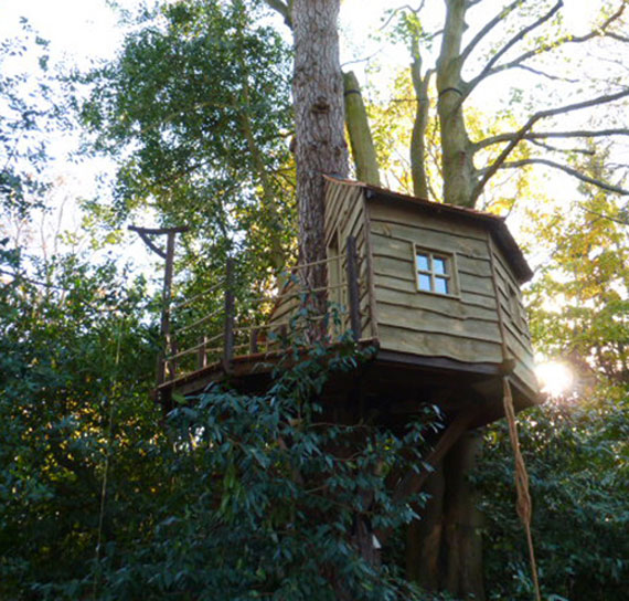 t5 Cool Treehouse designidéer att bygga (44 bilder)