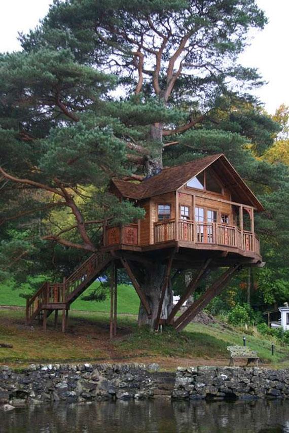 t18 Cool Treehouse designidéer att bygga (44 bilder)