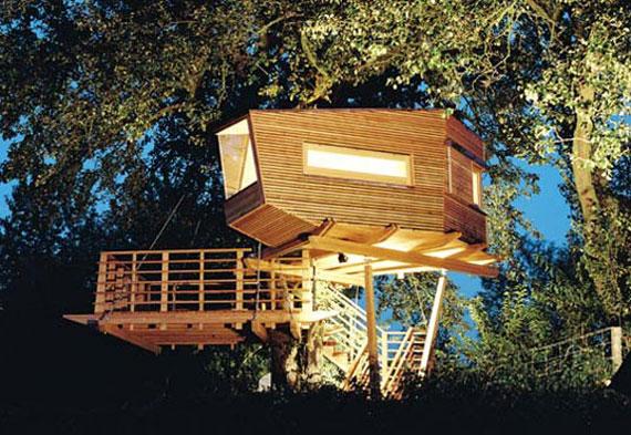 t35 Cool Treehouse designidéer att bygga (44 bilder)
