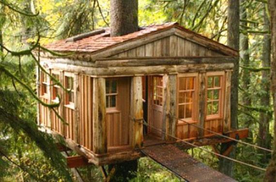 t12 Cool Treehouse designidéer att bygga (44 bilder)