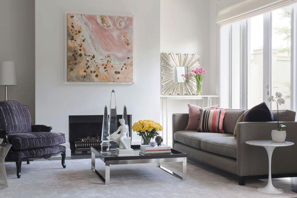 Dekorera och lägga till färg i rum med vita väggar 9 Dekorera och lägga till färg i rum med vita väggar