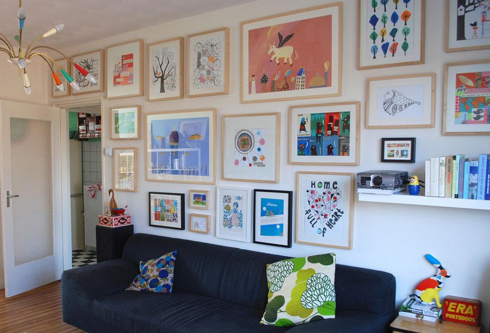 Dekorera och lägga till färg till rum med vita väggar 11 Dekorera och lägga till färg till rum med vita väggar