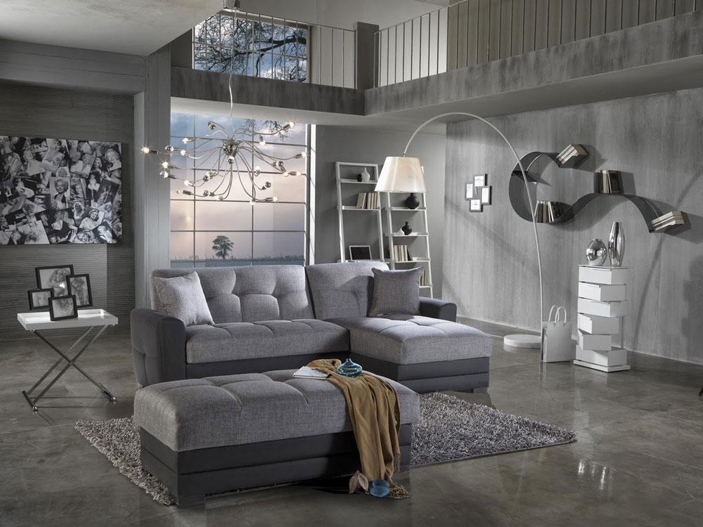 Modern och elegant grå vardagsrumsinredning-6 Modern och elegant grå vardagsrumsinredning