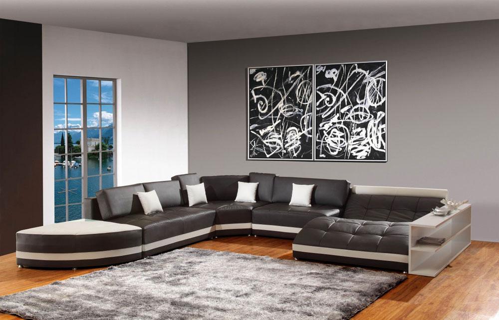 Modern och elegant grå vardagsrumsinredning-7 Modern och elegant grå vardagsrumsinredning