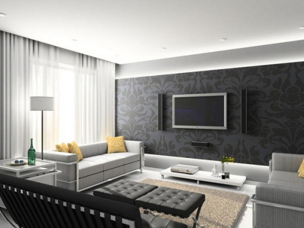 Modern och elegant grå vardagsrumsinredning-11 Modern och elegant grå vardagsrumsinredning
