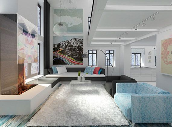 18 Skönheten i minimalistiska vardagsrum med exempel