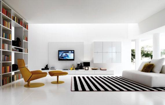 19 Skönheten i minimalistiska vardagsrum med exempel