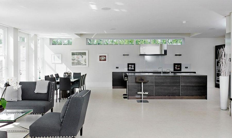 5 elegant brittiskt hem med rymlig och elegant inredning