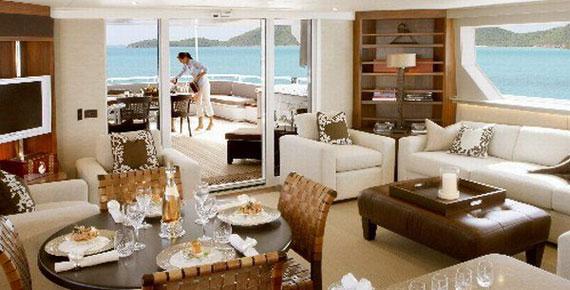 y9 Exempel på glamorösa yachtinredning som kommer att förvåna dig