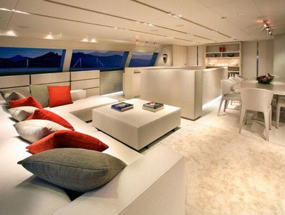 y31 Exempel på glamorösa yachtinredning som kommer att förvåna dig