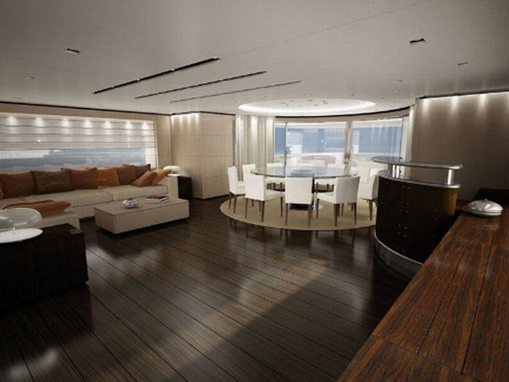 y38 Exempel på glamorösa yachtinredning som kommer att förvåna dig