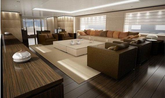 y40 Glamorous Yacht Interior Design Exempel som kommer att förvåna dig