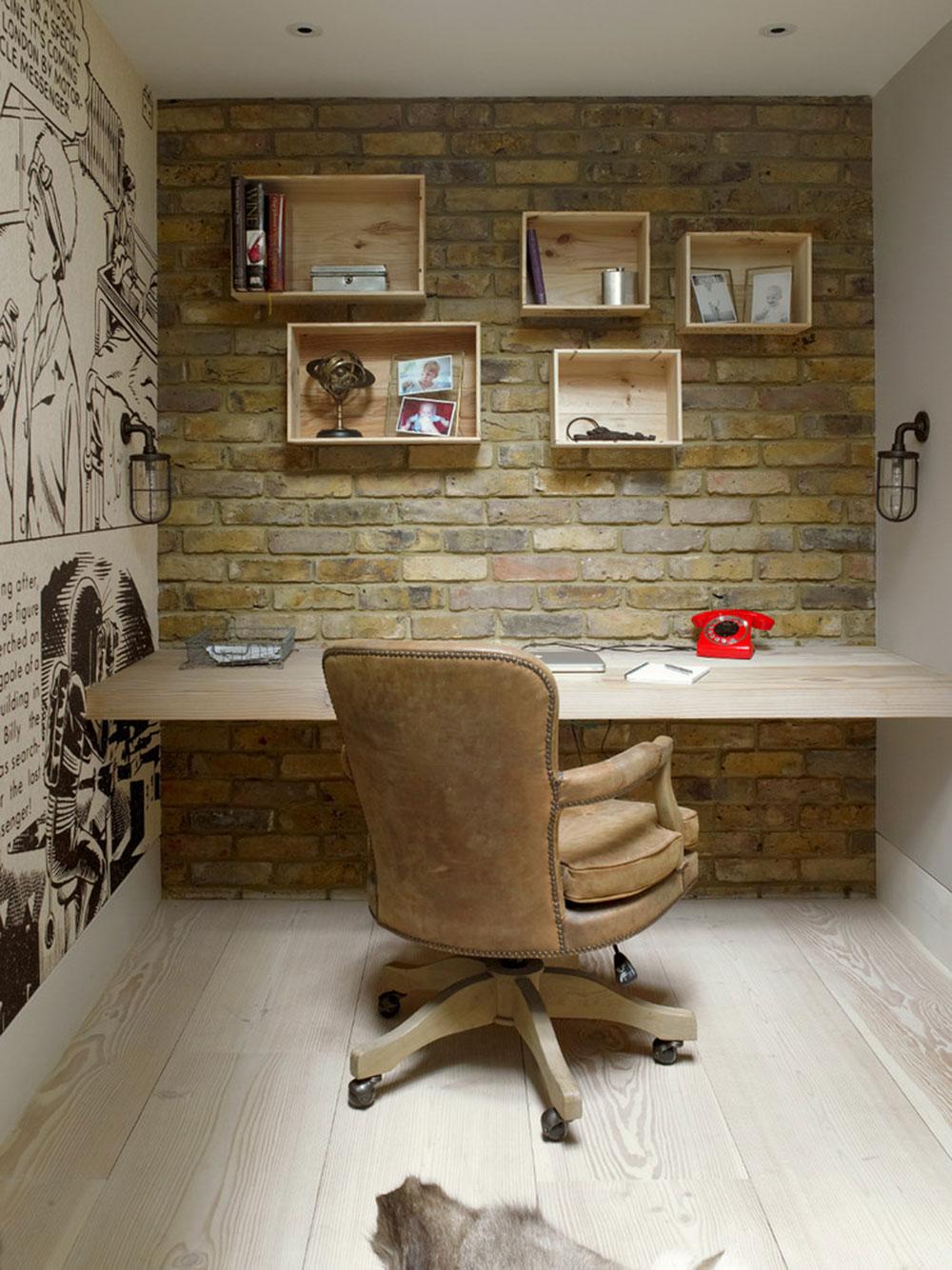 DIY-vägg-skrivbord-för-en-trevlig-jobb8 DIY väggmonterade skrivbord designidéer