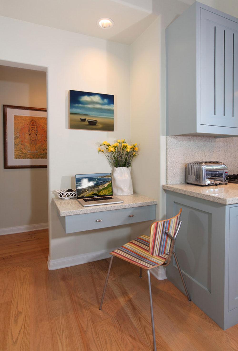 DIY-vägg-skrivbord-för-ett-trevligt jobb1 DIY väggmonterade skrivborddesignidéer