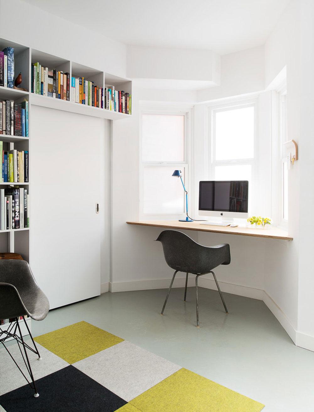 DIY-vägg-skrivbord-för-en-trevlig-jobb11 DIY väggmonterade skrivbord designidéer