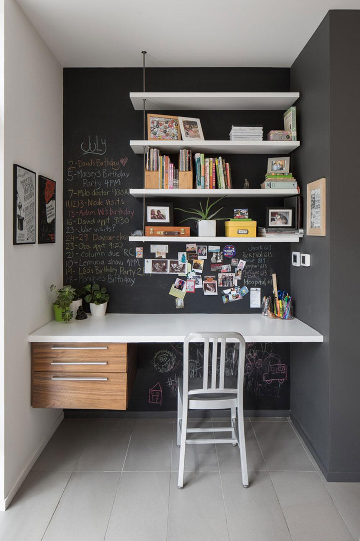 DIY-vägg-skrivbord-för-en-trevlig-jobb7 DIY vägg-skrivbord designidéer