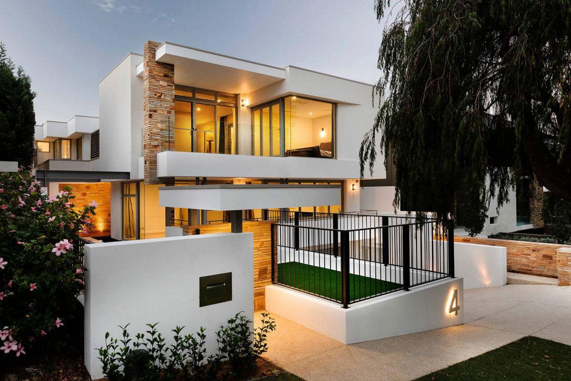 Samtida tre våningar hem designat av Signature Custom Homes-14 Samtida tre våningar hem designat av Signature Custom Homes