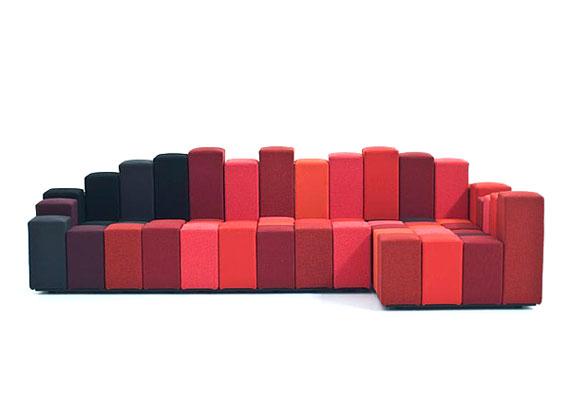 s16 En utställning med moderna exempel på soffdesign