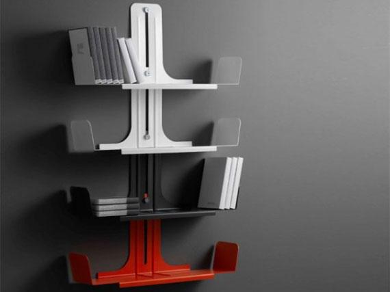 f8 Intressanta flytande bokhyllor som skulle se bra ut på dina väggar