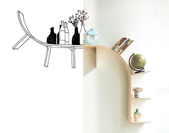 f16 Intressanta flytande bokhyllor som skulle se bra ut på dina väggar