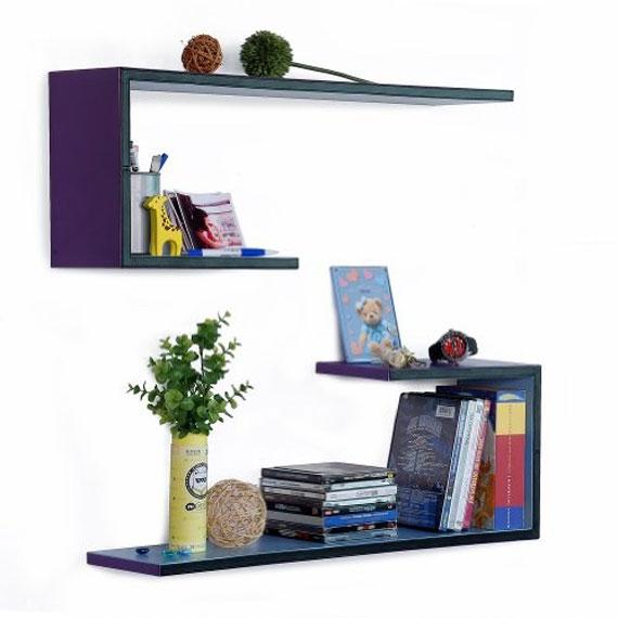 f20 Intressanta flytande bokhyllor som skulle se bra ut på dina väggar