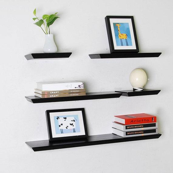 f18 Intressanta flytande bokhyllor som skulle se bra ut på dina väggar