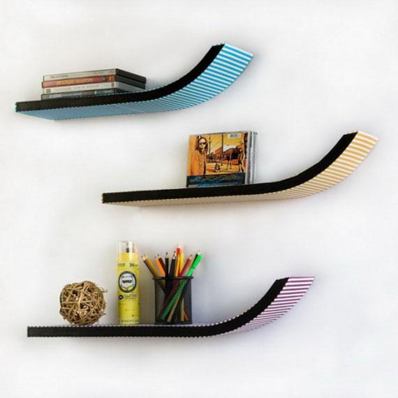 f3 Intressanta flytande bokhyllor som skulle se bra ut på dina väggar
