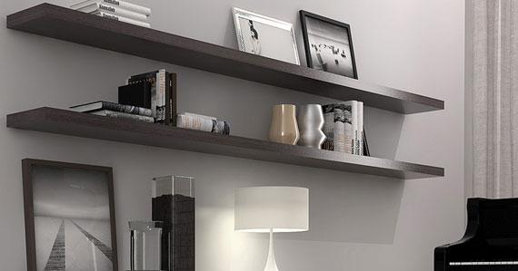 f39 Intressanta flytande bokhyllor som skulle se bra ut på dina väggar