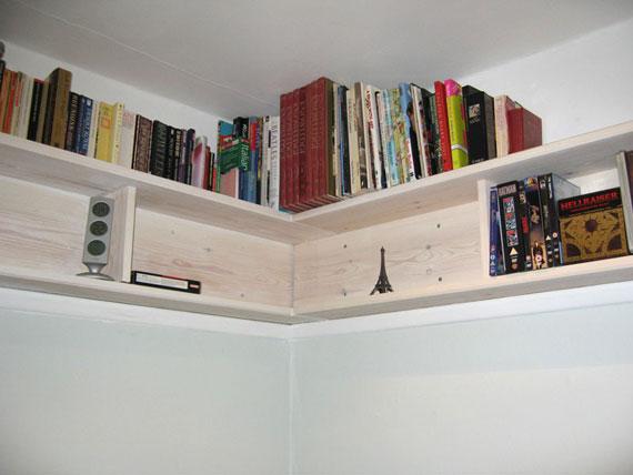 f34 Intressanta flytande bokhyllor som skulle se bra ut på dina väggar