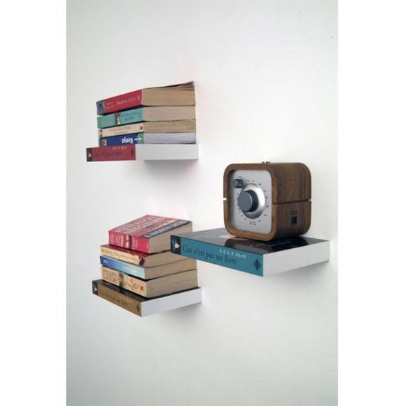 f32 Intressanta flytande bokhyllor som skulle se bra ut på dina väggar
