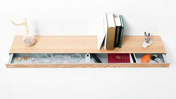 f25 Intressanta flytande bokhyllor som skulle se bra ut på dina väggar