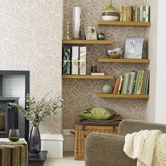 f30 Intressanta flytande bokhyllor som skulle se bra ut på dina väggar