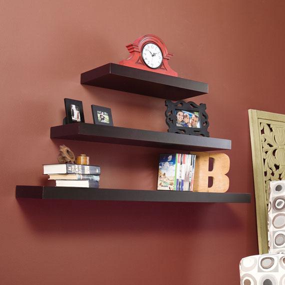 f36 Intressanta flytande bokhyllor som skulle se bra ut på dina väggar