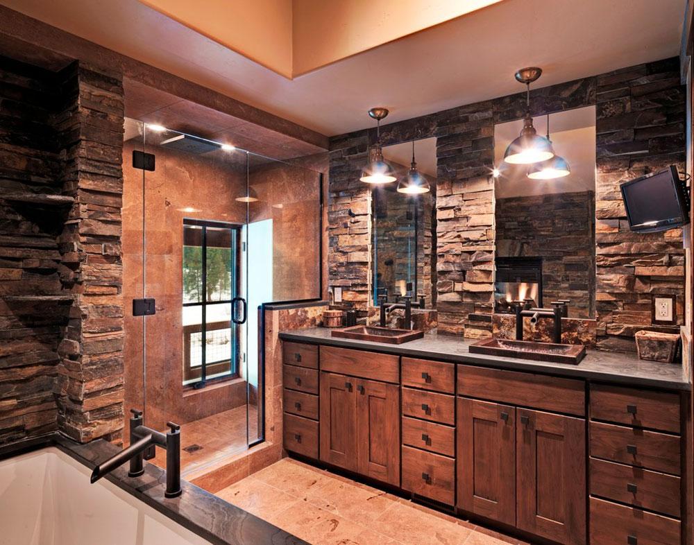 Lahontan-Home-Truckee-von-Griggs-Custom-Homes-Inc.  Rustik badrumsdesign: idéer, fåfänga, dekor och belysning
