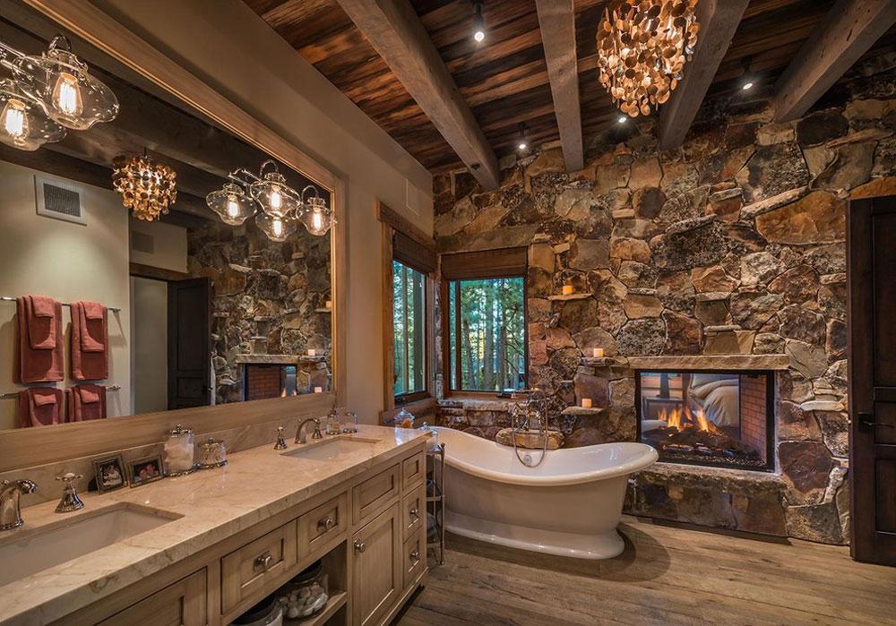 Natural-Bungalow-by-Interior-Design-by-Julie-Johnson-Holland Rustik badrumsdesign: idéer, fåfänga, dekor och belysning