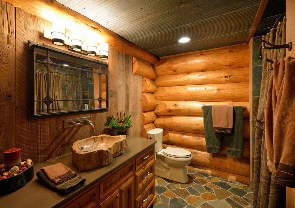 Star-Prairie-Lake-Home-by-Lake-Country-Builder Rustik badrumsdesign: Idéer, fåfänga, dekor och belysning