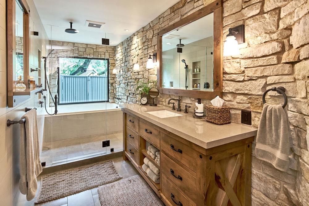 Modern-Master-Retreat-av-Ammirato-Construction-Inc.  Rustik badrumsdesign: idéer, fåfänga, dekor och belysning