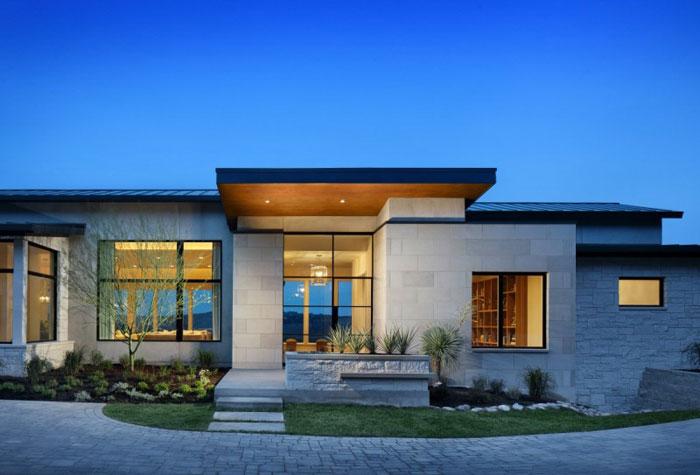 74716340594 Hus på kullen med fantastiska interiörer Av James D LaRue Architecture Design