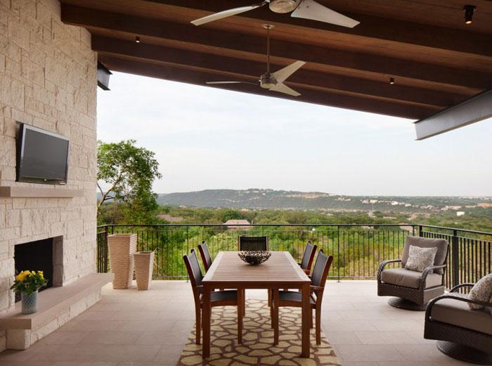 74716390018 Hus på kullen med fantastiska interiörer Av James D LaRue Architecture Design