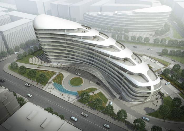 73304275159 Kontorsbyggnad med modern arkitektur som du vill arbeta i