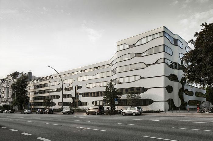 73304522753 Kontorsbyggnad med modern arkitektur som du vill arbeta i