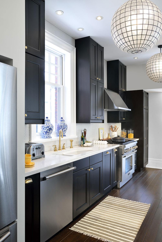 Kök-med-svarta-skåp-kan-fortfarande-vara-ljusa10 Kök med-svarta skåp - bilder och idéer