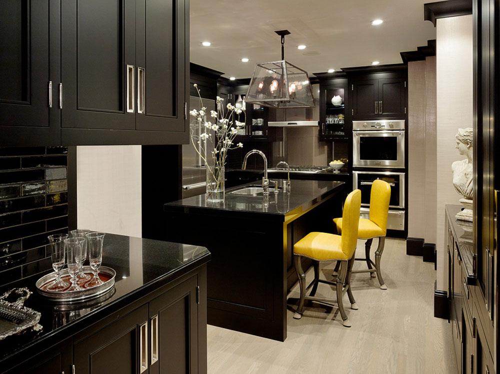 Kök med svarta skåp kan fortfarande vara ljusa6 Kök med svarta skåp - bilder och idéer